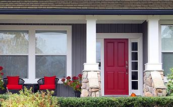 Door that pops with color