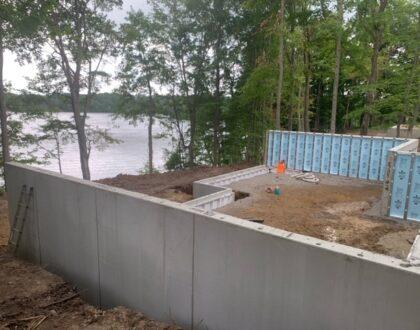 Basement Wall Installation